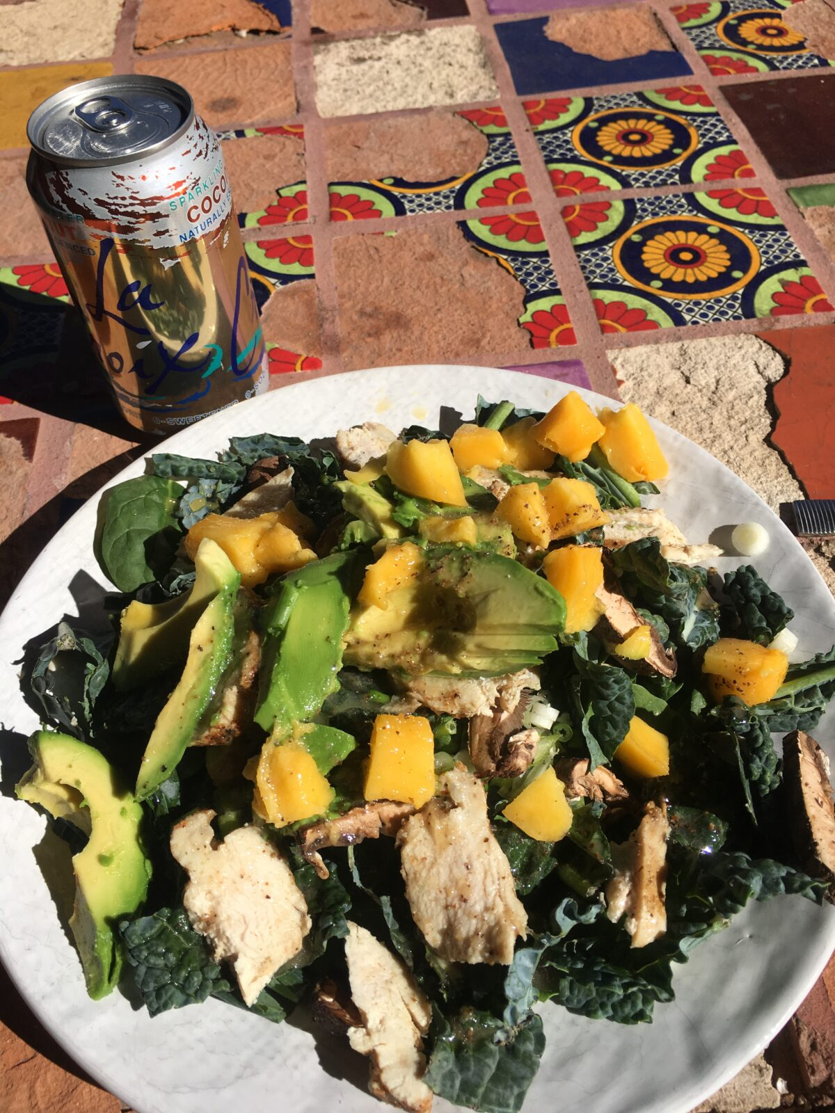 Kale, Chicken, Avacado, Mango, Green Onion Salad