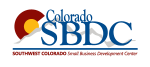 This image has an empty alt attribute; its file name is Southwest-Colorado-SBDC-logo.png